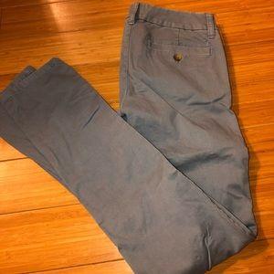 American eagle blue khakis boot cut size 0L